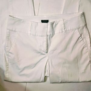 Ann Taylor Curvy Fit White Slacks